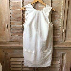 TOBI White Backless Spandex Shift Dress